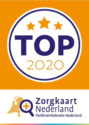Allevo in TOP 2020 thuiszorg van Zorgkaart Nederland